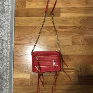 Rebecca minkoff red leather cross body